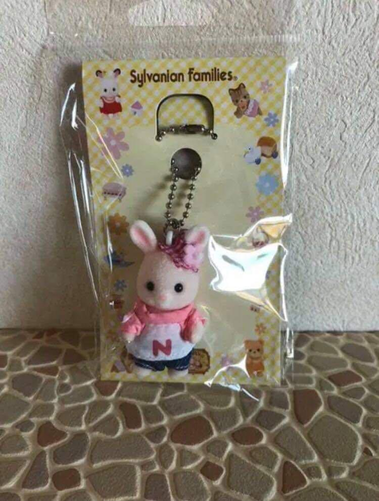 Sylvanian Families Nonohana Rabbit Key Chain (Denim)