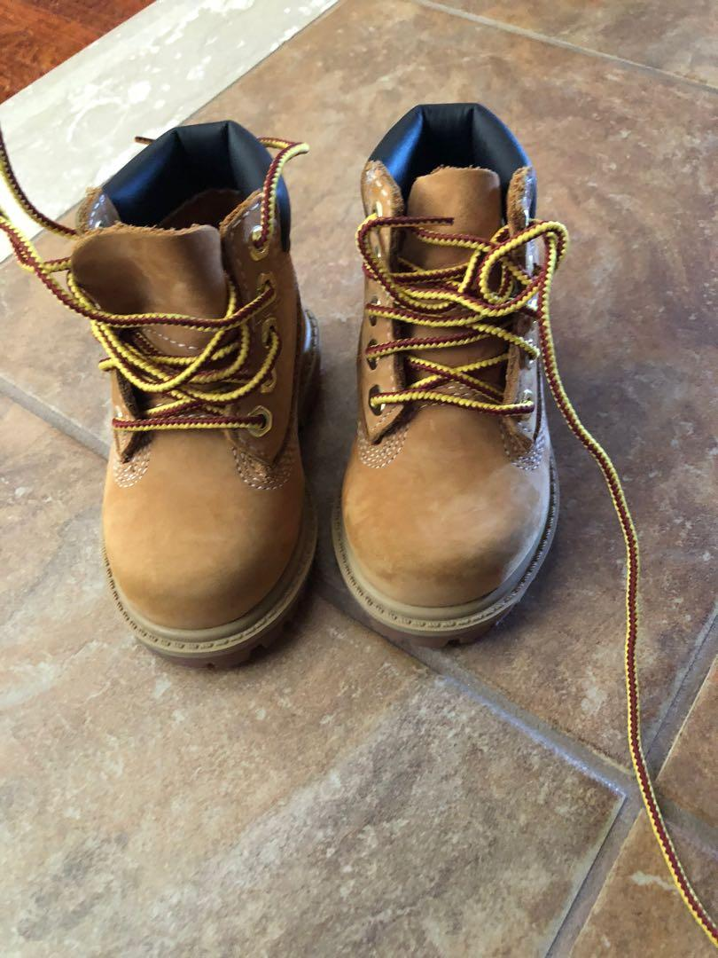 Toddlers size 4 timberland shoes