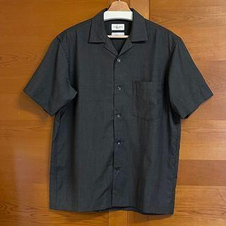 United Arrows REDA 全羊毛 開領短袖襯衫 (L)