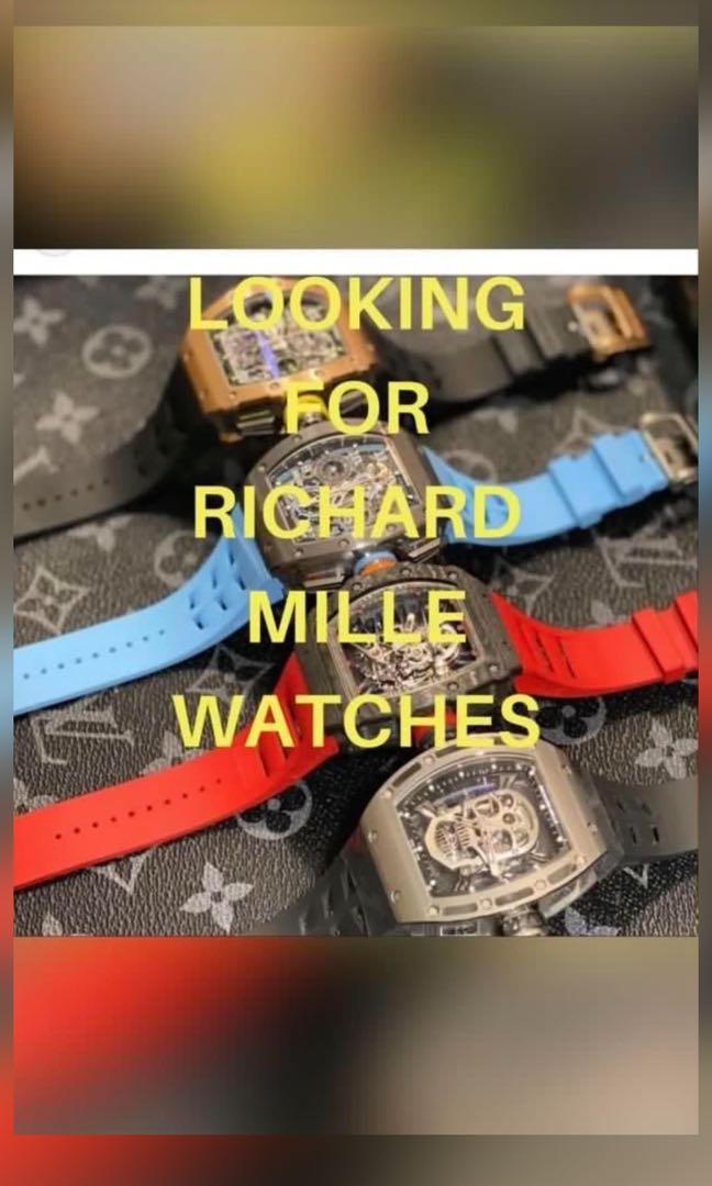 WTB Richard Mille Watches RM11 RM35 RM55