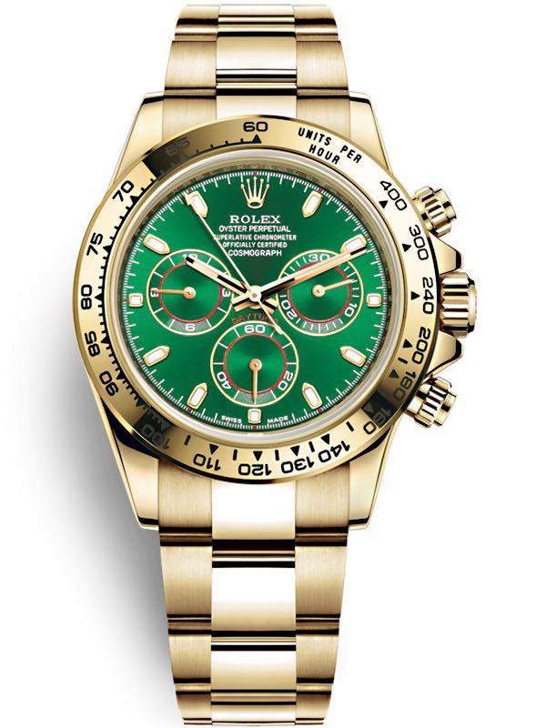 WTB Rolex 116508 Green Daytona YELLOW GOLD