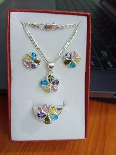 3in1 Pure Silver Ladies set