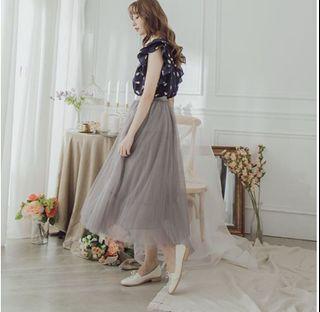 灰色超仙雪紡紗裙/長裙🤍