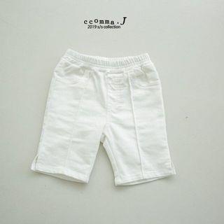 全新 韓國 白色 5分褲 女童 xxxl 130-140