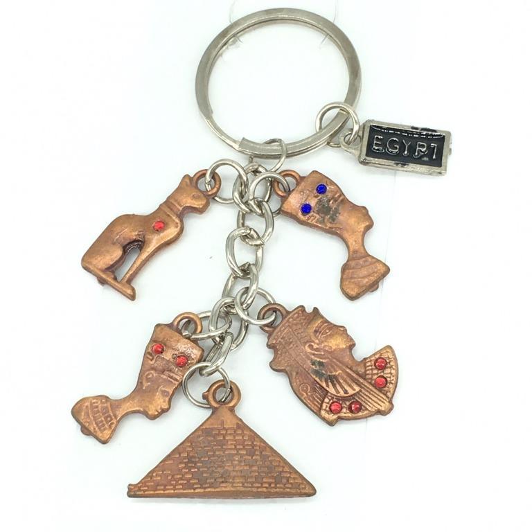 古埃及鑰匙圈|金字塔 黑貓 圖坦卡門 法老王 娜芙媞提|全新品