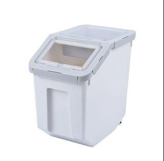 Air tight pet food bucket container, not tier cage carrier bags condo house