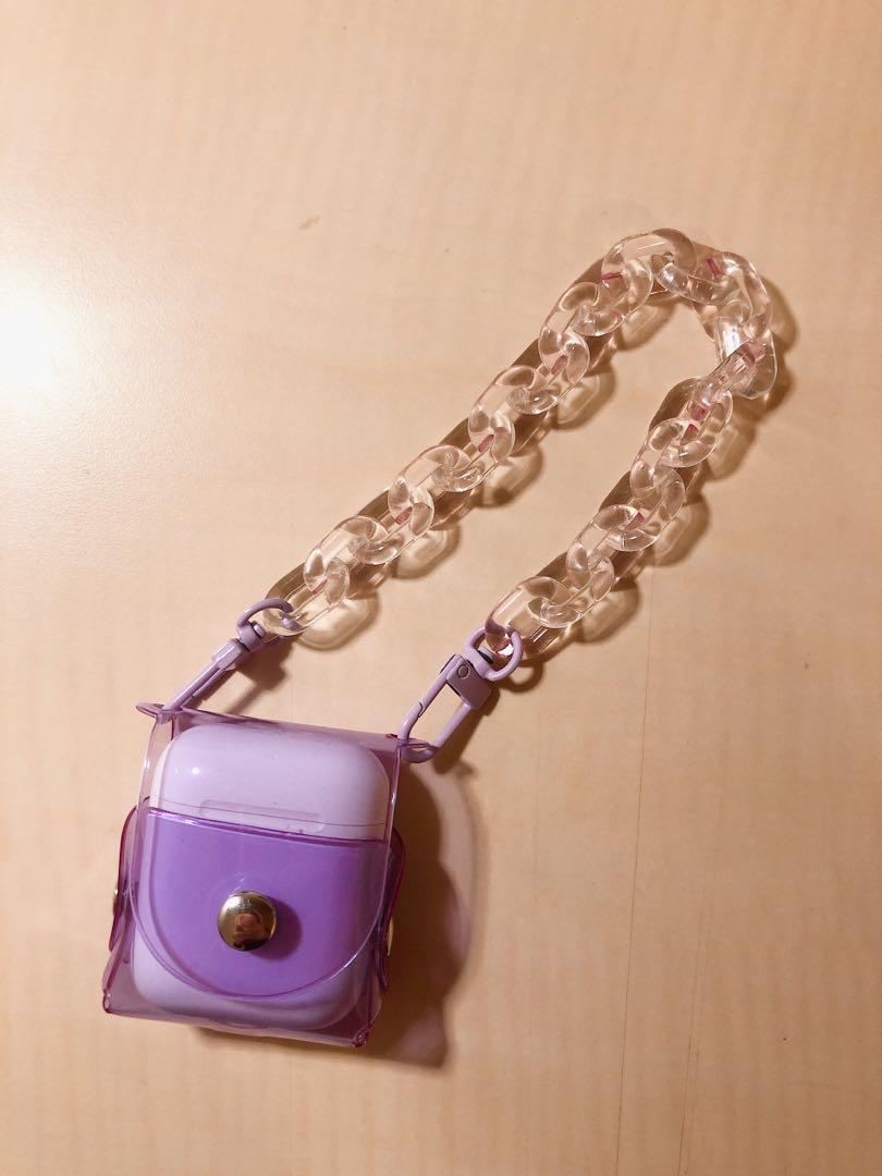 螢光紫 AirPods耳機扣殼