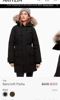 Aritzia Bancroft xs winter jacket