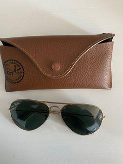 Authentic ray bands gold and green lens