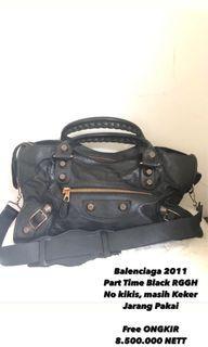 Balenciaga Bag Part Time Black rggh 2011