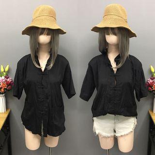 Black blouse/top (size:large-xL)