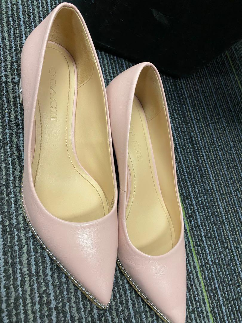 Coach Pink leather pumps 6.5
