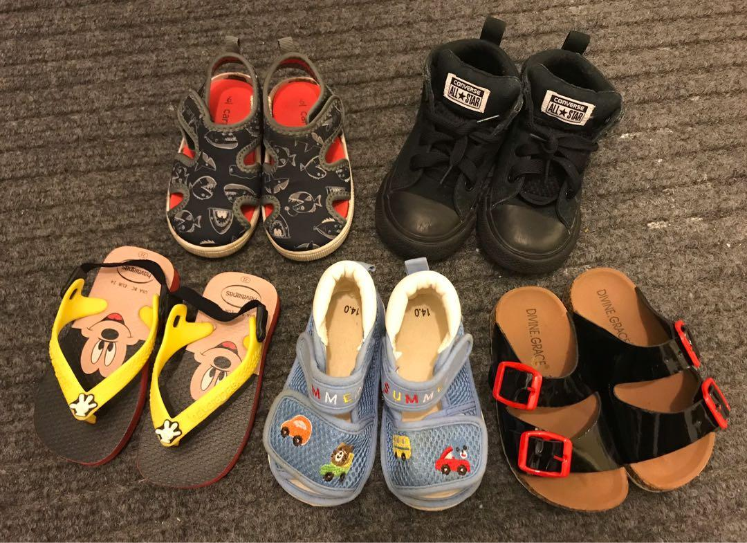 EUC Toddler shoes / converse sneakers / havaianas sandals / carter's water shoes (US6 / US7 / US8)