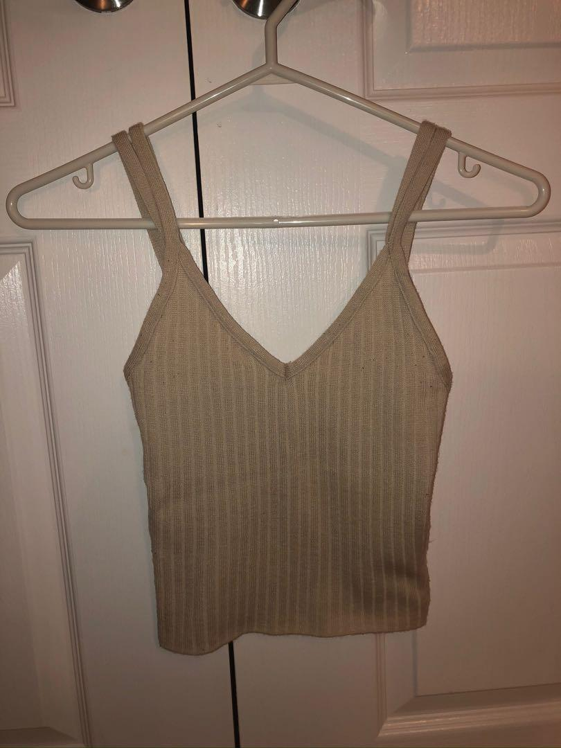 Fitted Cropped Tank Top