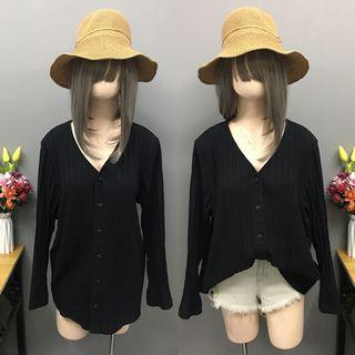 Plus size black cardigan/top (size:2x-3x)