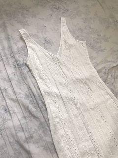 SHEIN White Midi Dress