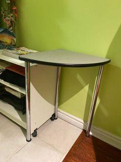Tall triangle side table