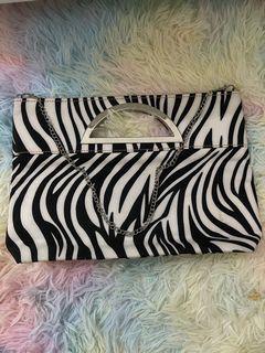 Zebra printed bag