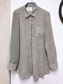 條紋輕透薄外套