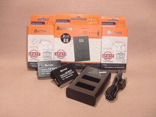 ( 2x LP-E17電池 連 1x LPE17 USB雙位充電器 )優惠套裝合Canon EOS 200D Mark II, EOS 850D及多款相機請留意內容 (香港行貨由BATTPRO免費一年保用)