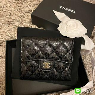 全新 Chanel經典款 三摺短夾