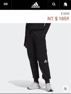 Adidas 愛迪達 ZNE 棉質長褲 黑 女