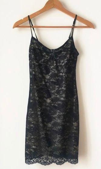 Aritzia Wilfred lace slip dress