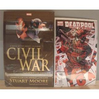 Civil War the Illustrated Edition with FREE Deadpool Suicide Kings (2009 Marvel) # 1A COMIC BOOK