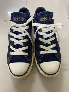 CONVERSE all star 絕版款 牛仔丹寧 帆布鞋 23/6.5號