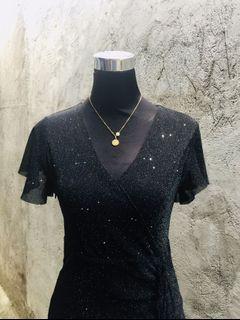 Glitter Black Dress