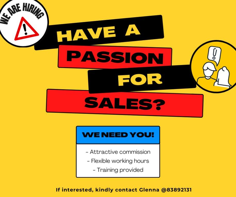 PRODUCT DEMONSTRATOR / SALES EXECUTIVE 📣
