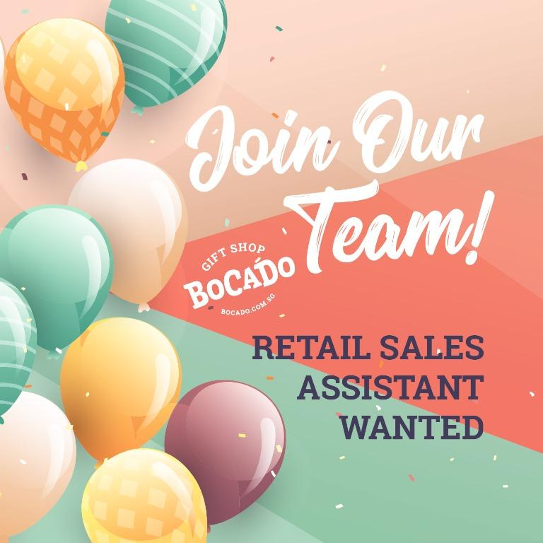 Retail Sales Assistant Wanted in Punggol/Sengkang area