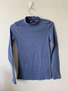 Ribbed top blue