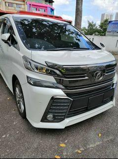 Toyota 𝐀𝐋𝐏𝐇𝐀𝐑𝐃 & 𝐕𝐄𝐋𝐋𝐅𝐈𝐑𝐄 MPV Car For Rent Shah Alam Klang Sewa Kereta Murah
