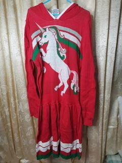 Unicorn Dress with Hoodie