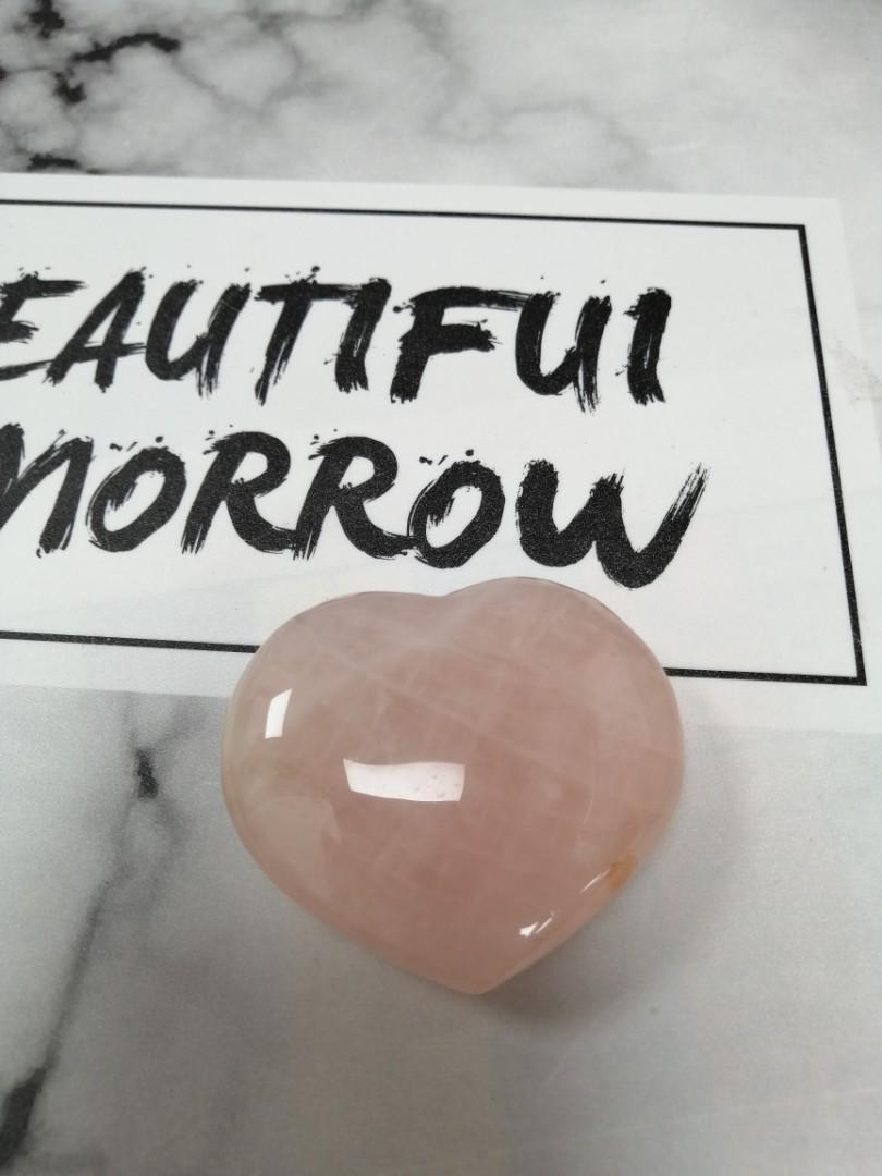 大顆愛心粉水晶