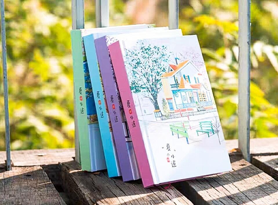 (預購)小清新彩頁插畫日記本子唯美可愛手女生文具禮物厚筆記本