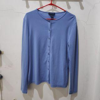 Cardigan Vintage warna biru