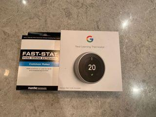 Google learning thermostat and HVAC extender