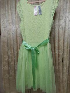 GREEN LACE/Tulle Dress