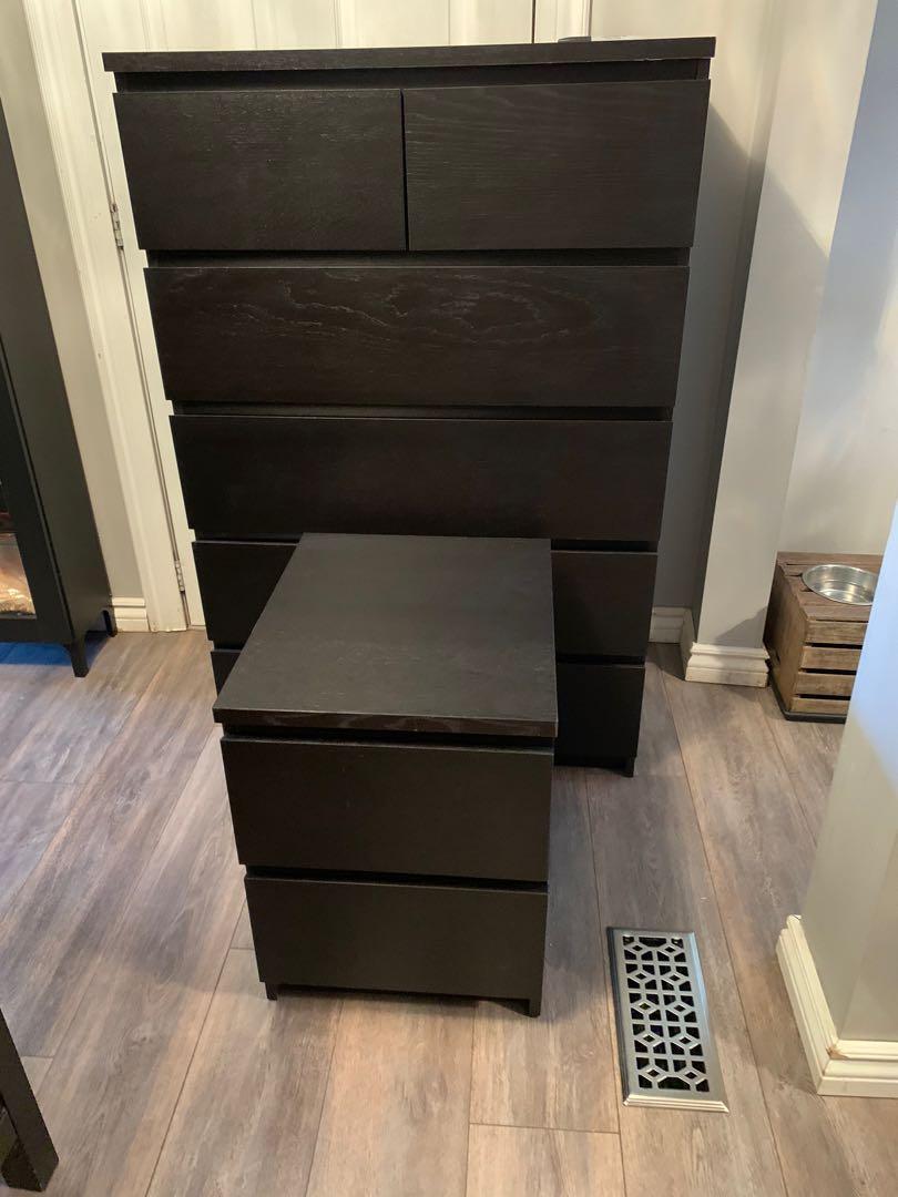 IKEA malm dresser with nightstand
