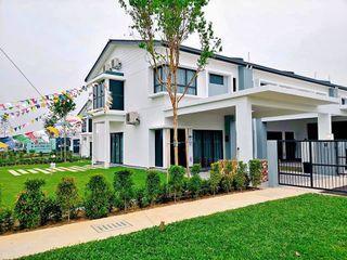 [Installment RM1400 only] Freehold 2 Storey Superlink House 0% D/P, Cashback 12k, Seremban