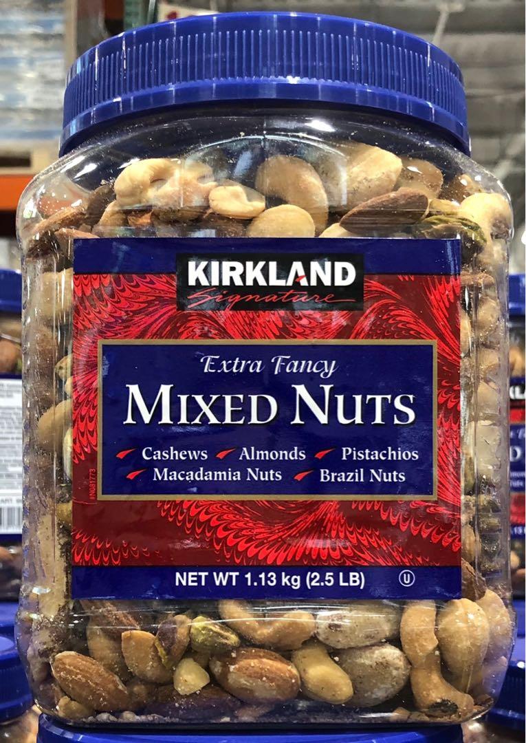 [麒玲小舖]好市多代購-Kirkland Signature科克蘭特選綜合堅果(鹽烤) 1.13kg/罐
