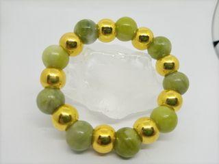 Lemon Jade 12MM with Gold non tarnish bead spacer
