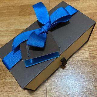 正品LV LOUIS VUITTON 抽屜紙盒緞帶小卡