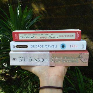 Preloved books buku import bekas