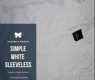Simple white sleeveless