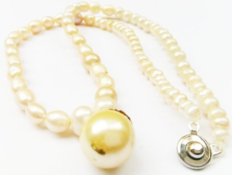 飾珍珠 項鍊長約40公分