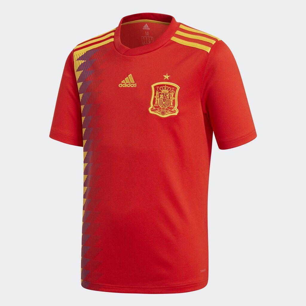 全新 ADIDAS 世界杯 西班牙國家隊大童版 短袖上衣 BR2713