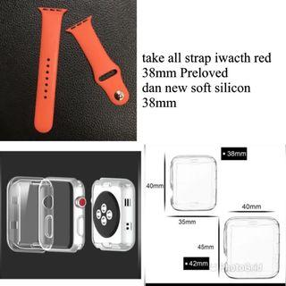 Apple Watch soft silicon iwacth 38mm dan strap rubber 38 mm preloved take all